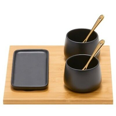 NEW SALT & PEPPER Kobe Condiment 6 Pce Serving Set $29.92 BEST PRICE