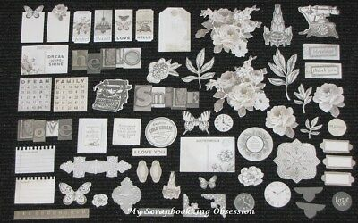 Kaisercraft 'PEN & INK' Collectables Die Cut Shapes Vintage/Sepia KAISER