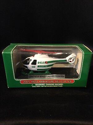 HESS 2005 MINIATURE HELICOPTER MINT IN THE BOX