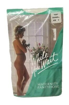 New Maternity Pantyhose While You Wait 70297 Sheer Support Eggshell Size D