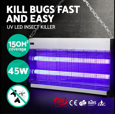 45W Insect Killer Mosquito Pest Fly Bug Zapper Aluminium alloy 150m2 Coverage