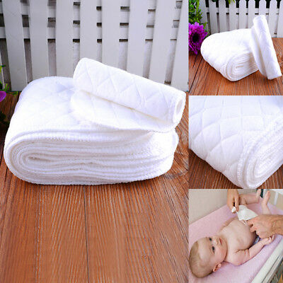 10PCS Reusable Baby Infant Diaper Nappy Liners insert 3 Layers Cotton