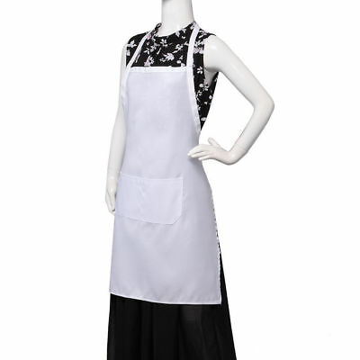 Catering Apron Pockets Butcher Craft Baking Chefs Kitchen Cooking BBQ White