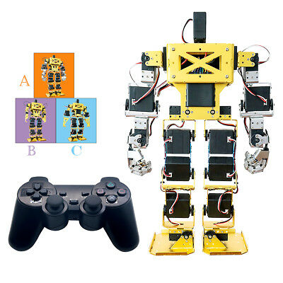 Biped Robot 17DOF Humanoid Anthropomorphic Combat Battle 38cm Assembled
