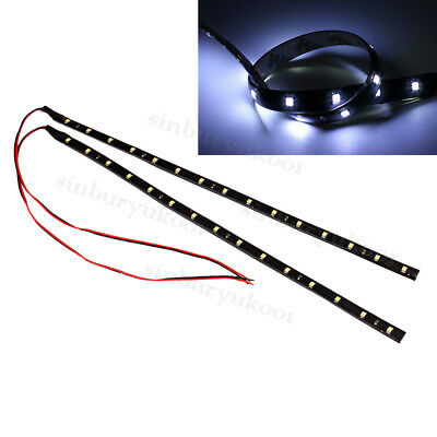 2x 30cm SMD 3528 15 LED Lichterkette flexibles Streifen Licht Lampen Strip Auto
