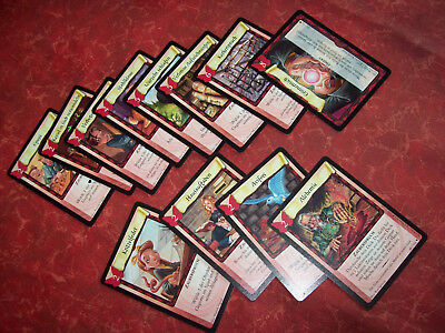 harry potter trading card game 12X Karten rote Serie