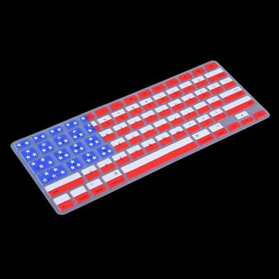 USA Flag Dust-free Silicone Laptop Keyboard Skin Protective Film for MacboQS