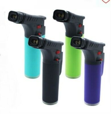 1 x Twin Flame Blow Torch Stand Up Jet Lighter Cigarette Smoke Smoking Colour
