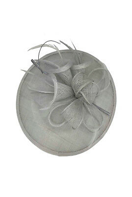 Ladies Day Races Royal Ascot Silver Fascinator Wedding Hat Headband & Clip UK