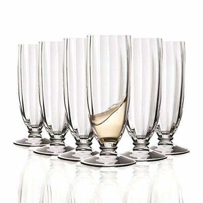 RCR Champagne Glasses 170 ml, Set of 6 Crystal Glasses Lilium flute CL17 Glasses