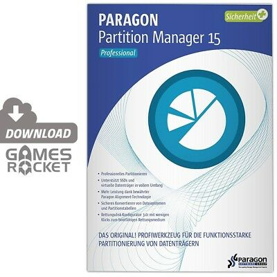 Paragon Partition Manager 15 Professional - offizieller Download ESD [PC]