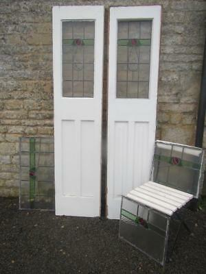 Vintage Wooden Stained Glass Doors Stunning Art Deco Town House