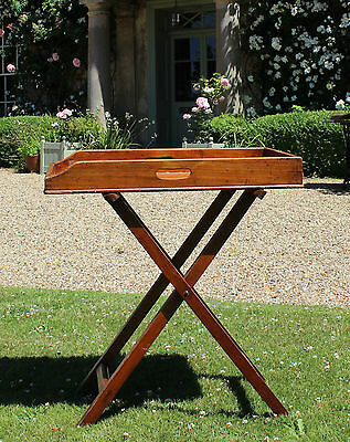 19th Century Mahogany Butlers Tray and Stand