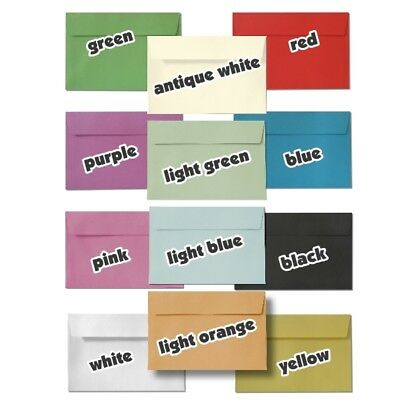 C6 Envelopes Yellow White Pink Red Purple Black Blue Green Black Paper Coloured