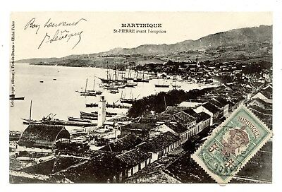 SAINT-PIERRE.MARTINIQUE.AVANT LA CATASTROPHE DU 8 MAI 1902.ÉRUPTION Mont PELÉE.