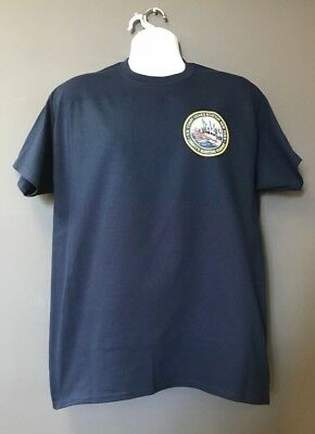 USCG US Coast Guard Station New York Navy Blue Short Sleeve MORALE T-Shirt