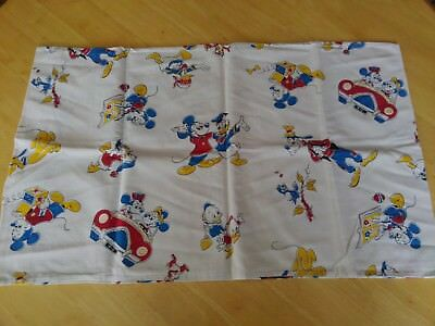 """MICKEY MOUSE & DONALD DUCK"".  Vintage 1970s Disney pillowcase.  VG CONDITION."