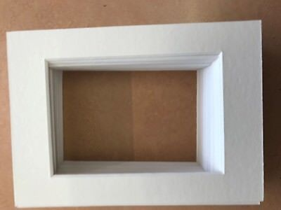 "30 Assorted Shades White Picture Frame Mounts 5X7"" For 5X3.5 Inch Photo"