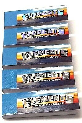 5, 10 Elements Premium Roaches Roach Book Card Filter Tip Cigarette Rolling Tips