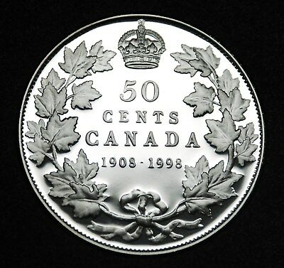 1908-1998 Canadian sterling silver 50¢ proof finish - gorgeous coin, rare #2