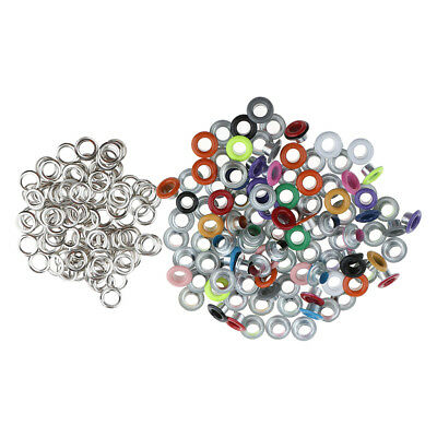 100x Metal Eyelets Buckle for Leathercraft Scrapbooking Embellishments 3mm