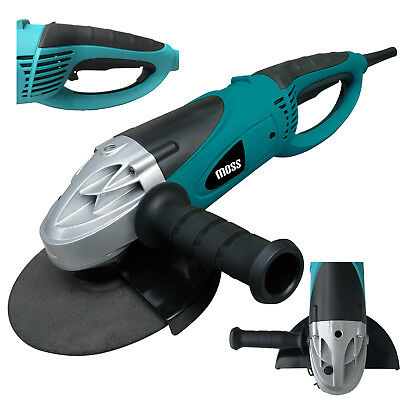 """Moss 2350W 230mm 9"""" Disc Angle Grinder Corded Electric 230v Power Tool"""