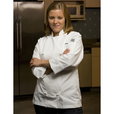 Chef Revival Ladies Knife & Steel Jacket, Poly-Cotton, Cloth Knot Button