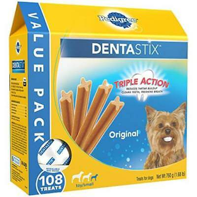 Pedigree Dentastix Toy/Small Dog Chew Treats Original 108 Treats Pet US SELLER