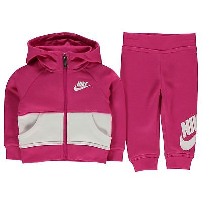 a3ea468d5481 Nike Infant Full Zip Tracksuit Baby Children Hooded Jogging Suit - Vivid  Pink
