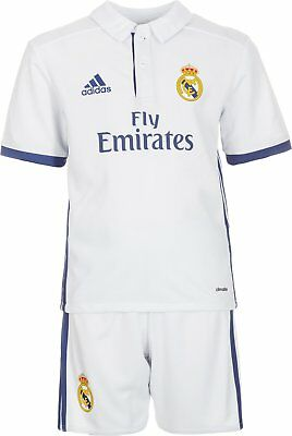 Adidas Real Madrid Junior Kids Home Kit 2016/17 (Shirt & Shorts)