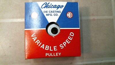 "Chicago Die Cast 325VP 3-1/2"" Variable Speed Pulley, FREE SHIPPING"