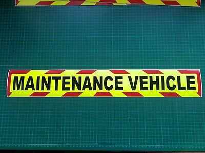 MAINTENANCE VEHICLE MAGNET MAGNETIC HIGHWAY Trailer CHEVRON Towing GARAGE x1