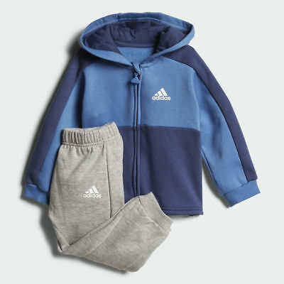 Adidas Infant Boys Sports Tracksuit Kids Children Linear Hoodie Fleece Jogger