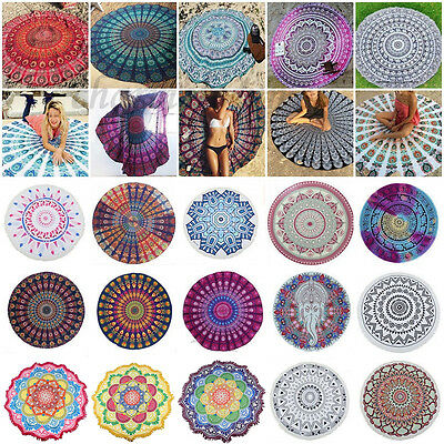 Indian Mandala Tapestry Wall Hanging Yoga Throw Mat Beach Towel Bedspread Cover