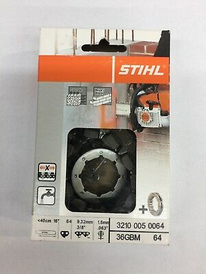 "New OEM Stihl 3210 005 0064 36 GBM Diamond Concrete Cutter Chain (40cm/16"""")"