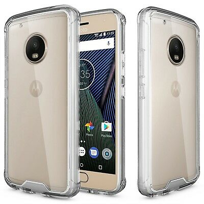 new style 07617 3aed4 REBOOS MOTOROLA MOTO G5 Plus Clear Case Ultra Slim Thin Hard Shockproof for  G5+