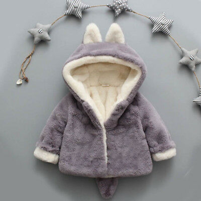 Fashion Baby Girls Boy Autumn Winter Hooded Coat Cloak Jacket Thick Warm Clothes