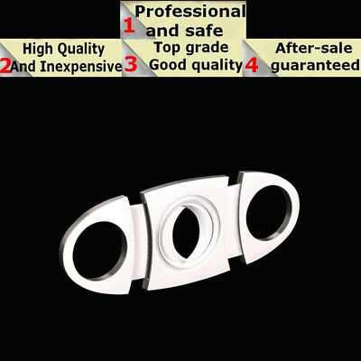 Hot Stainless Steel Pocket Cigar Cutter Knife Double Blades Scissors Shears USA