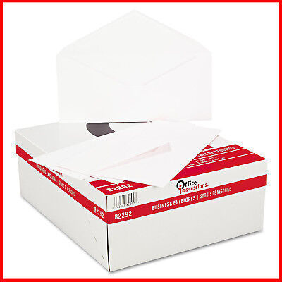 [No TAX] Office Impressions - White Envelopes, #10, Gummed - 500 Count