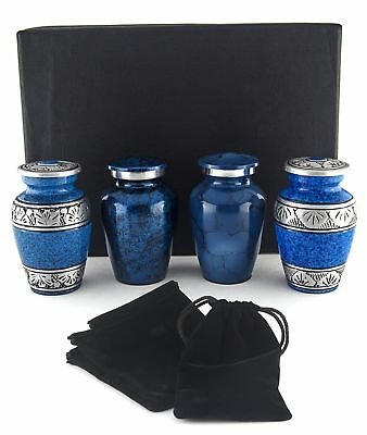 Small Cremation Urns for Human Ashes by Adera Dreams - Mini Keepsake Urn Set of