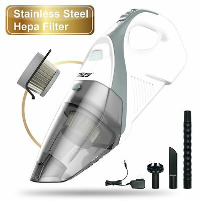 Hand held Cordless Vacuum,THZY Rechargeable 12V Car Cleaner Vac Li-ion Battery