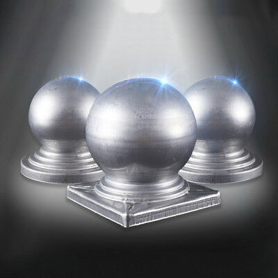 1X 50*50mm Metal Round Ball Fence Finial Post Cap Protect Square Garden Decor