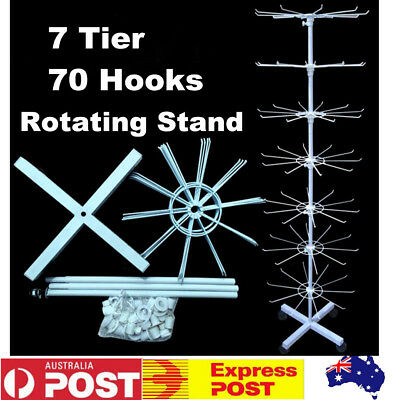 70 Hooks Rotating Display Stand Rack Shop Display Rotate Spinning Holder