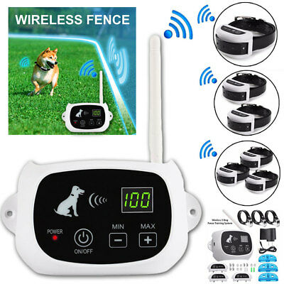 Wireless Dog Fence Pet Train Collar Containment System Waterproof Rechargeable