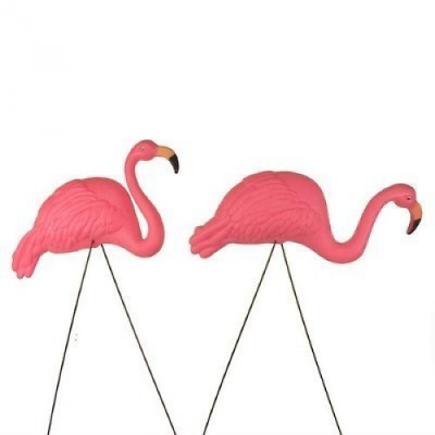 2 Large Pink Flamingo Yard Garden Lawn Decoration Ornament Party Supplies Guests