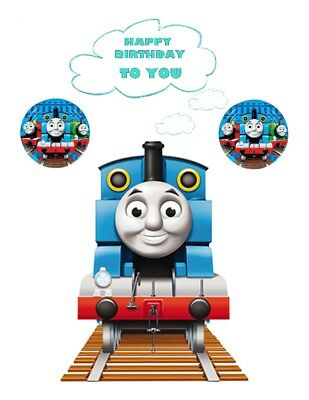 A4 Tank Thomas Personalised  Edible Wafer/Rice Fondant Paper Cake Topper
