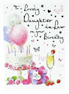 Lovely Daughter In Law Birthday Greeting Card Envelope Seal Ladies For Her