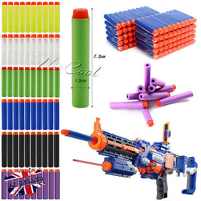 60-300Pcs NERF Gun Refill Soft Darts Bullets Toy Gun N -Strike Round Head Blast