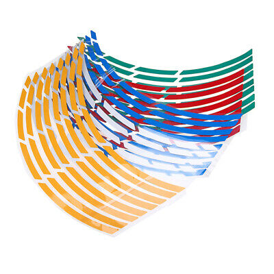 16 Strips Reflective Rim Stripe Wheel Decal Sticker for 17-19 inch Motorcycle