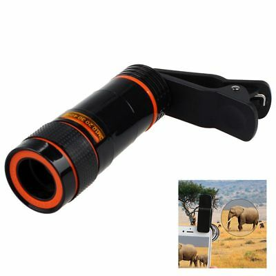 12x Optical Zoom Lens Telescope Telephoto Clip on for Mobile Cell Phone Cam O0H0